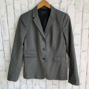 rag & bone 100% Wool Grey Pinstripe Blazer Jacket